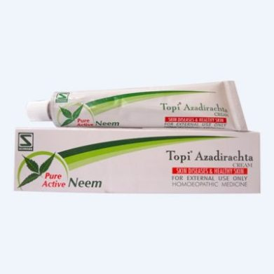 Homeopathic Topi Azadirachta Cream for Skin Diseases, pure active neem