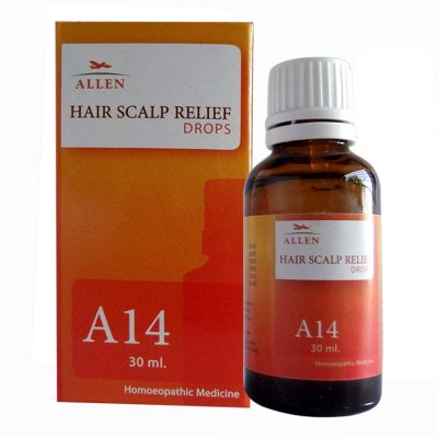 A14 Hair Scalp Relief Drops, homeopathic medicine for Allen A14 Hair Scalp relief drops|Scalp itching,dandruff,redness