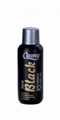 Camy Black K2 Arnica Hair Care Oil with shikakai, bhringraj, jeborandi, brahmi amla and sage leaves