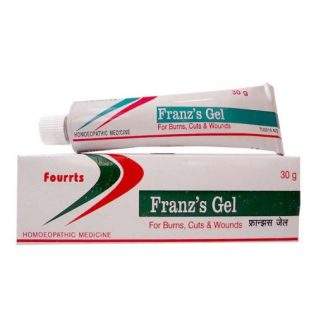 Fourrts Franz's Homeopathy Gel for Burns, Cuts, Wounds, Diabetic foot, Summer boils, Carbuncles and as an Antiseptic after Shave