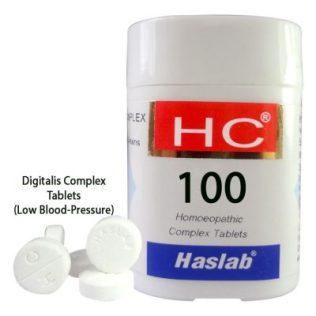 Haslab HC-100 Digitalis Complex Tablets for LowBlood-Pressure