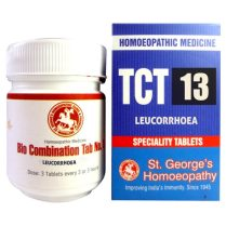 St George TCT 13 Homeopathic Tissue Complex Tablets for Leucorrhoea