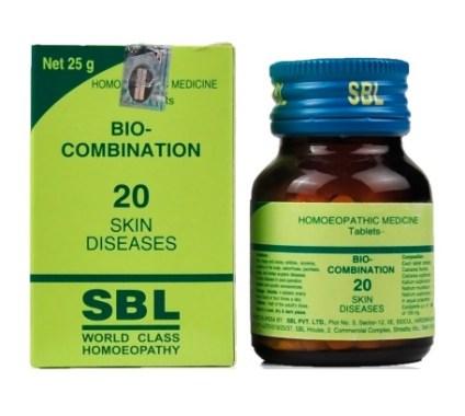SBL Bio Combination No 20 Tablets for Skin Diseases