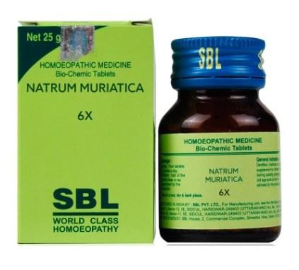 SBL Biochemics Tablets Natrum Muriatica 3x, 6x, 12x, 30x, 200x