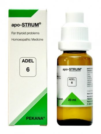 Adel 6 apo-STRUM homeopathic medicine for thyroid problems, homeopathy treatment for thyroid, hypothyroidism, hyperthyroidism