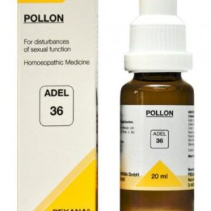 Adel 36 pollon drops for sexual dysfunction. Homeopathic medicine for poor sex ability in men and women