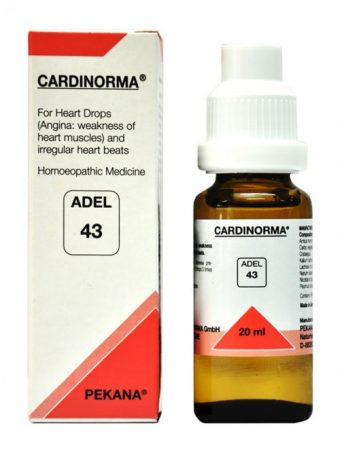 Adel-43-cardinorma homeopathic heart drops for Angina, irregular heart beats