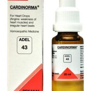 Adel-43-cardinorma homeopathic heart drops for Angina, irregular heart beats