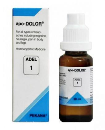 ADEL 1 apo-Dolor homeopathic drops for headaches, migraine, neuralgia. headache homeopathy