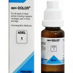 ADEL 1 apo-Dolor homeopathic drops for headaches, migraine, neuralgia. headache homeopathy