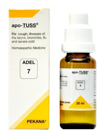 ADEL 7 apo-Tuss homeopathic drops for cough, bronchitis, flu, cold , asthma, whooping cough