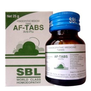 SBL AF Tabs with Gelsemium sempervirens for Cold and Flu