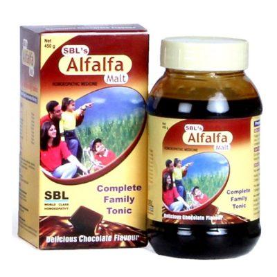 SBL Alfalfa Malt, Energy Stimulant, Health Tonic, Homeopathic Weight gain medicine, appetizer