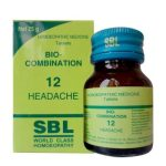 SBL Biocombination 12 (BC12) Tablets for Headache due to stress, anxiety, lack of sleep, indigestion