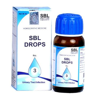 SBL Drops No 3 for symptoms of Urinary tract infection (UTI)