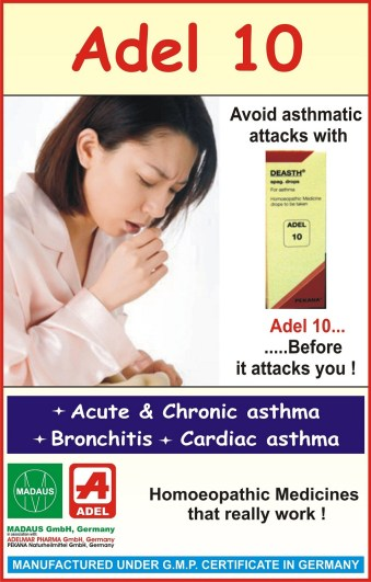 Adel 10 homeopathic drops for asthma treatment