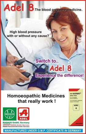 Adel 8 homeopathy drops for high blood pressure hypertension