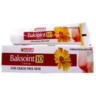 Baksons Baksoint 10 Cream for crack free skin, Dry Skin care medicine