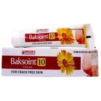 Baksons Baksoint 10 Cream for crack free skin, Dry Skin care medicine with calendula, zinc oxide, boric acid