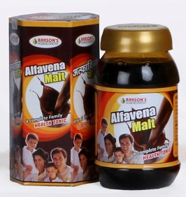 Baksons Alfavena Malt -homeopathy medicine for weight gain, family health tonic