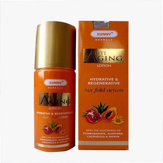 Bakson Sunny Anti Aging lotion- 6 fold action, Skin lotion contains Calendula, Papaya, Aloevera