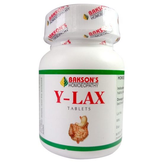 Bakson Y-Lax laxative for constipation, Piles, fissures (Homeopathic Isabgol)
