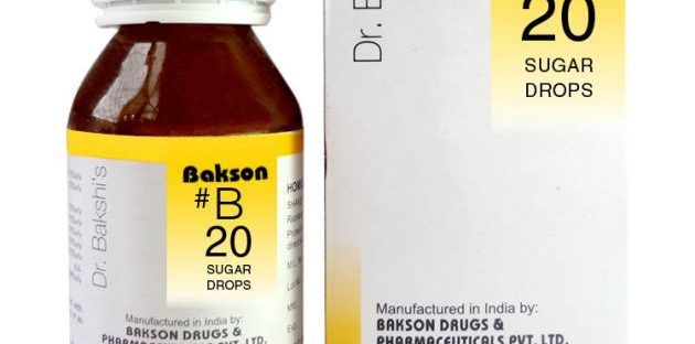 Dr.Bakshi B20 Sugar Homeopathy Drops for Diabetes symptoms, Hyperglycemia