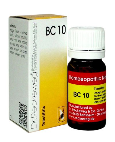 Dr Reckeweg Biocombination Tablets BC10 for Tonsillitis