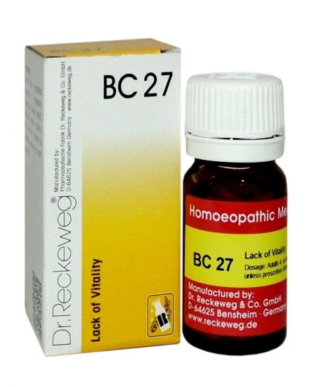Dr Reckeweg BC27 homeopathy biocombination for Lack of Vitality