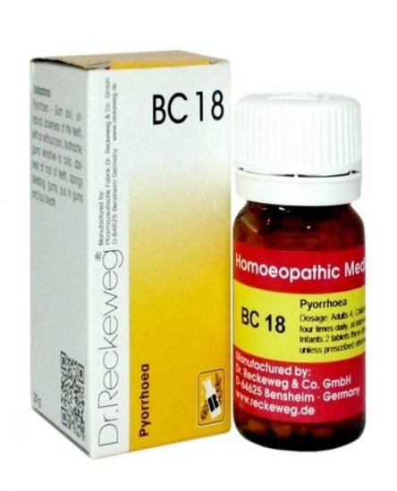 Dr Reckeweg-Germany Biocombination Tablets BC18 For Pyorrhoea, Gum boil, toothache, sensitive gums, mouth odor