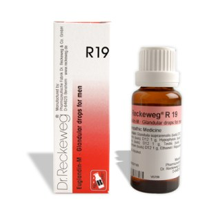 Dr. Reckeweg R19 Glandular drops for men, endocrine diseases, goiter, addisons disease, graves disease, Gynaecomastia