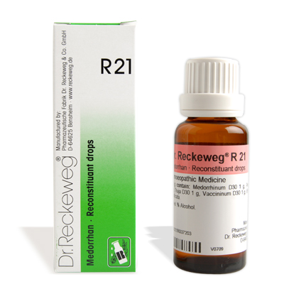 Dr. Reckeweg R21 Reconstituant drops for skin disease, eczema treatment, blood disorders