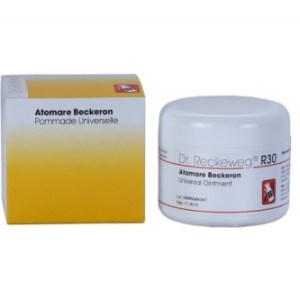 Atomare Beckeron Dr. Reckeweg R30 Universal ointment. Multi purpose cream for rheumatism, boils, sprains, muscle aches, sciatica, Arthritis