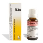Dr. Reckeweg R36 drops for Diseases of the nerves, chorea, St. Vitus' dance.Homeopathic medicine for nervous disorders, Chorea minor