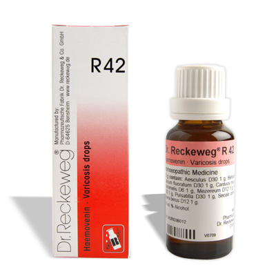 Dr. Reckeweg R42 for Venous stasis, Varicosis, inflammation of the veins