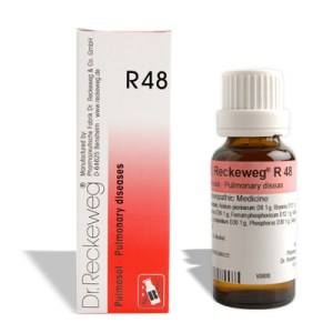 Dr. Reckeweg R48 for Pulmonary diseases, Asthma, Bronchitis, TB of lung