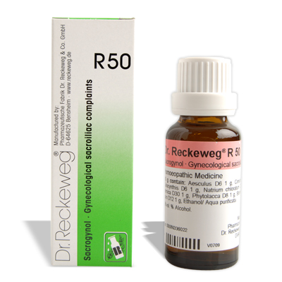 Dr. Reckeweg R50 for Gynecological sacroiliac complaints,pains in sacral region (women), Backpain lower in the female
