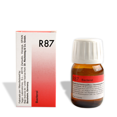 R87 Anti Bacterial drops, German Homeopathy medicine for ecoli, bacterial infections