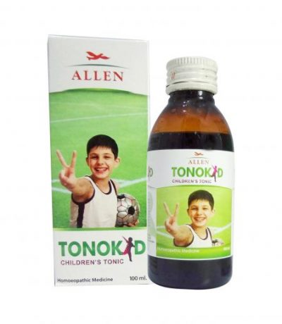 Allen Tonokid children tonic. Homeopathy medicine for weight gain, nourishment, proper digestion and assimilation in kids. Prevents falling ill frequently