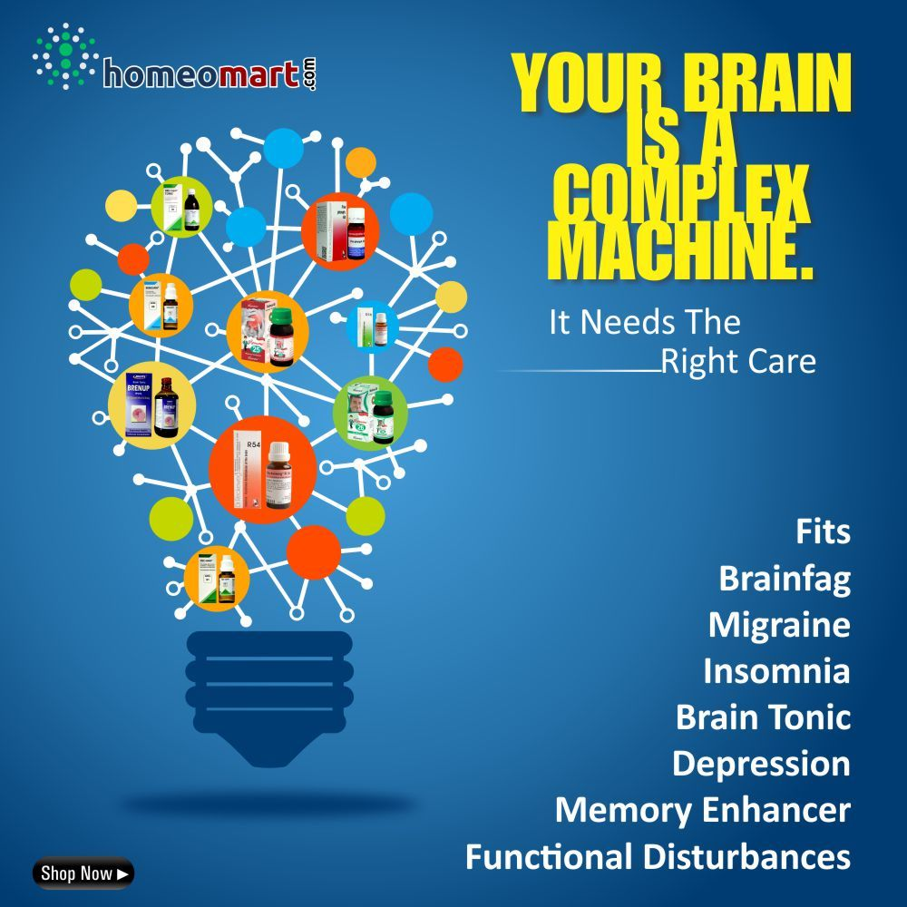 Homeopathy medicines for Brain and Neurological disorders - Fits, Brain fag, Migraine, Insomnia, depression, Memory loss