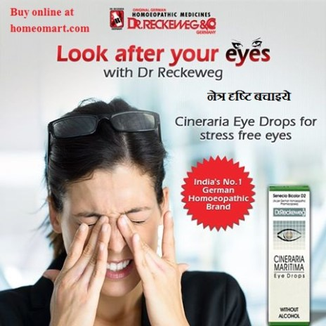 Reckeweg Cineraria eye drops for stress free eyes
