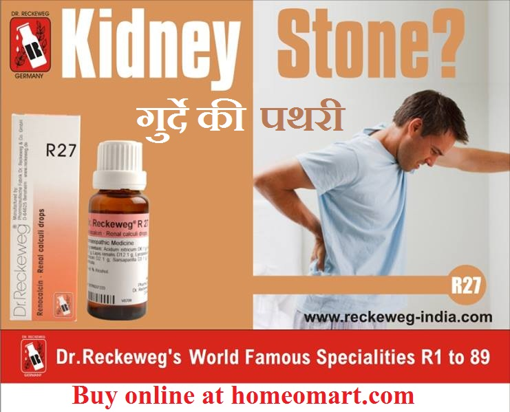 Reckeweg R27 drops for Kidney stone