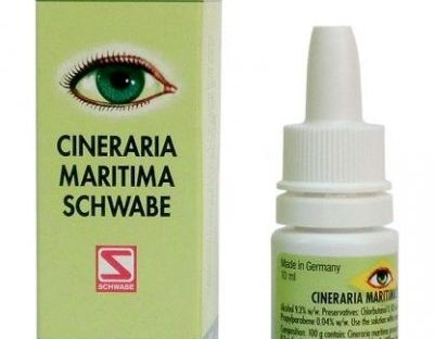 Schwabe German Cineraria Maritima Eye Drops 10ML for cataract, vision clouding, corneal and lenticular opacities of the eye