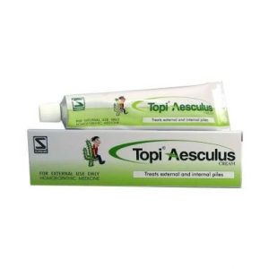 Schwabe Topi Aesculus cream for symptoms of piles - homeopathic medicine for hemorrhoids