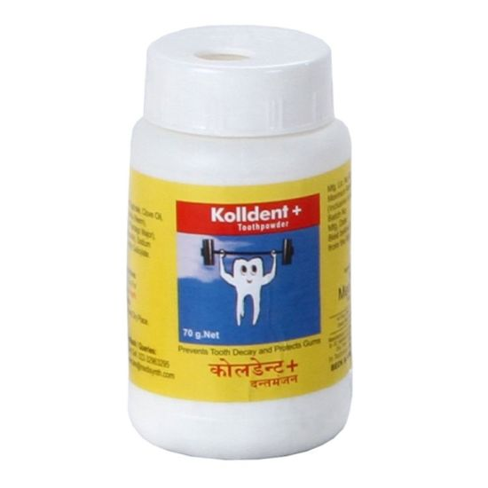 Medisynth Kolldent Plus Tooth Powder with neem, clove, plantago
