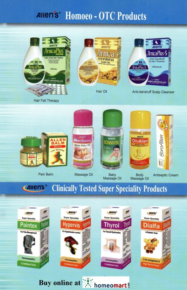 Allen Homeopathic Products