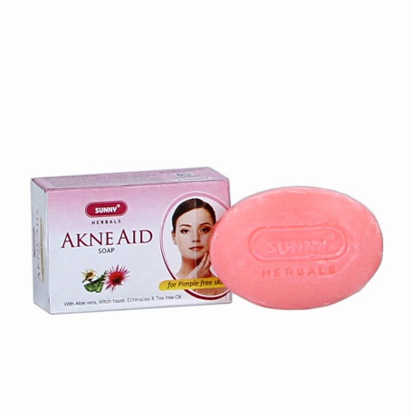 Baksons Sunny Acne Aid Soap for pimple free skin with tea tree oil and echinacea, witch hazel