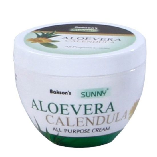 Baksons Sunny Aloevera Calendula multipurpose antiseptic skin cream, prevents scarring, sunburn and ageing of skin