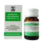 Schwabe Berberis Pentarkan Tablets for Symptoms of Kidney Stones, Uric acid diathesis