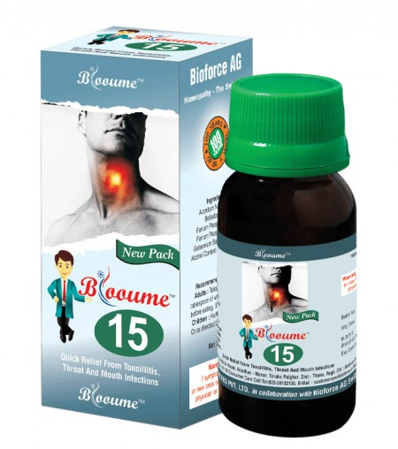 Blooume 15 FEBRISAN medicine for Tonsillitis, Throat infection